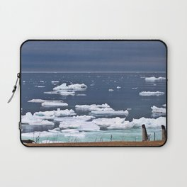 Icebergs on a Calm Sea Laptop Sleeve