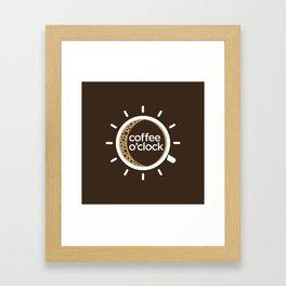 Coffee o'clock Framed Art Print