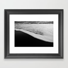Black & White Tide Framed Art Print