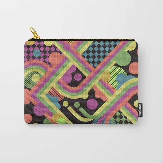 Multi-Color Geometric Fantasy Carry-All Pouch
