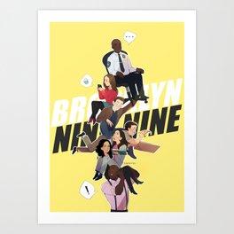 brooklyn 99 Art Print