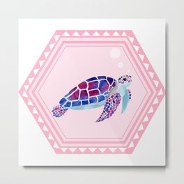 The dreamy tortoise Metal Print