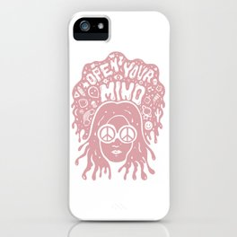 Open Your Mind in pink iPhone Case