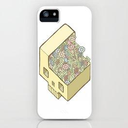 FlowerSkull iPhone Case