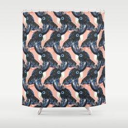 Black Cockatoos Shower Curtain