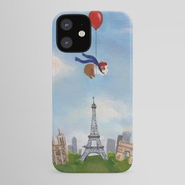 Guinea Pig With Balloon Over Paris, France iPhone Case
