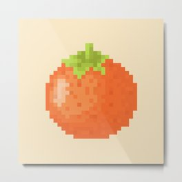 Orange Pixel Art | Animal Villager Metal Print