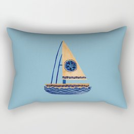 The Tribal Sailboat Rectangular Pillow