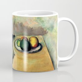 "Paul Cezanne ""Still life, jug and fruit on a table"" Coffee Mug"