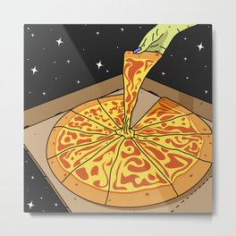 Universe Pizza Delivery Metal Print
