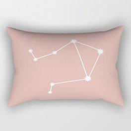 Libra Zodiac Constellation - Pink Rose Rectangular Pillow