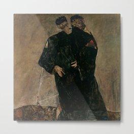 "Egon Schiele ""The Hermits"" Metal Print"