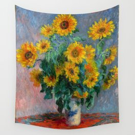 Bouquet of Sunflowers - Claude Monet Wall Tapestry