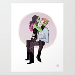 Galaxy Lovers Art Print