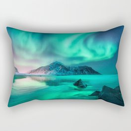 Aurora Borealis 5 Rectangular Pillow