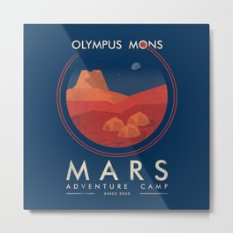Mars adventure camp Metal Print