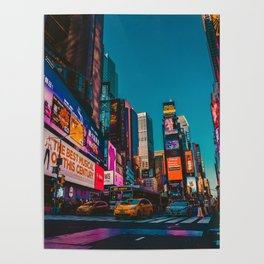 City Lights NYC (Color) Poster