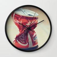 coke Wall Clocks featuring Coke by Ntaly