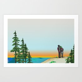Explore Michigan Lovers Art Print