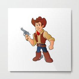 cowboy with revolver Metal Print