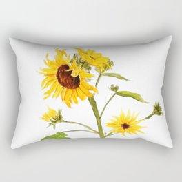 One sunflower watercolor arts Rectangular Pillow