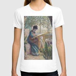 Woman in conservatory - Claude Monet T-shirt