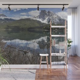 Looking South Towards Mt Burgess from Emerald Lake Wall Mural
