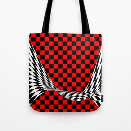 Schwarz rot weiss Tote Bag
