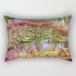 Japanese Garden And Pond Rectangular Pillow