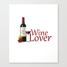 Wine Lover Canvas Print