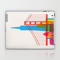 Shapes of San Francisco. Accurate to scale Laptop & iPad Skin