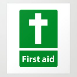 First Aid Cross - Christian Sign Illustration Art Print