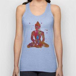 Colorful Buddha Unisex Tank Top