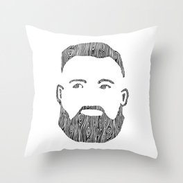 The Woodworker Throw Pillow