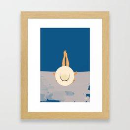 At The Ocean Framed Art Print