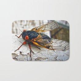 Red Eyed Cicada Bath Mat