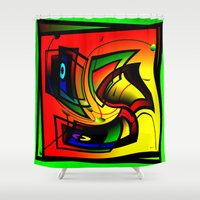 frames Shower Curtains featuring Mysterious frames II by Horacio Moschini