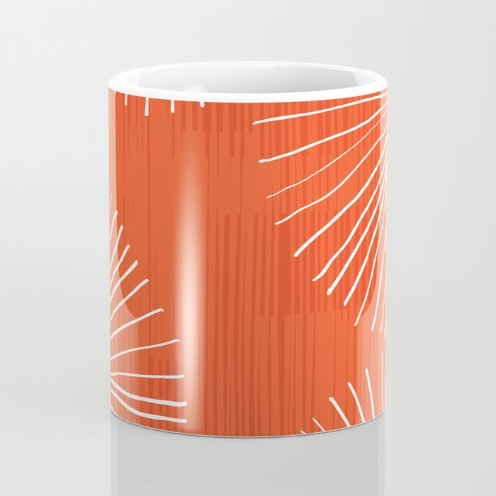 Dandelions in Red by Friztin Coffee Mug