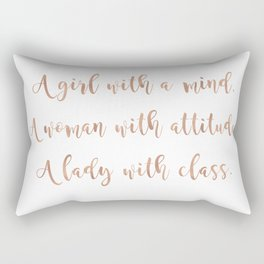 A girl, a woman and a lady - rose gold Rectangular Pillow