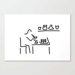 laboratory assistant lab Canvas Print