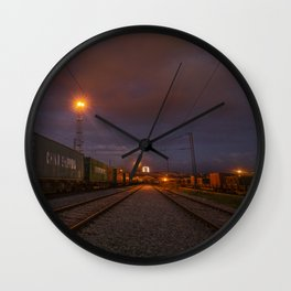 Night train Wall Clock