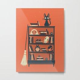 Ghibli Shelf // Miyazaki Metal Print