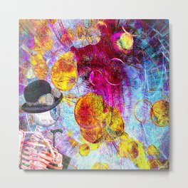 Monsieur Bone in the Abstracts world Metal Print