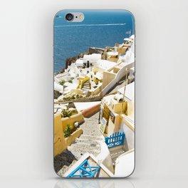 Santorini City iPhone Skin