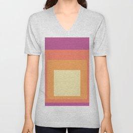 Block Colors - Pink Orange Cream Unisex V-Neck