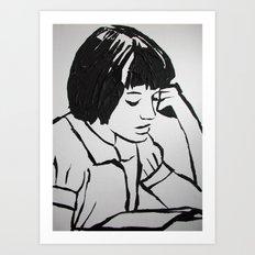 Scout reading.. Art Print