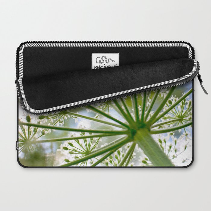 Delicate cow parsley Laptop Sleeve