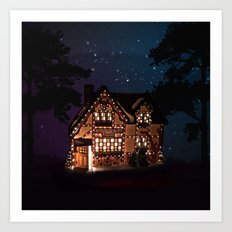 C1.3D PAPERSHOPPE BY NIGHT Art Print