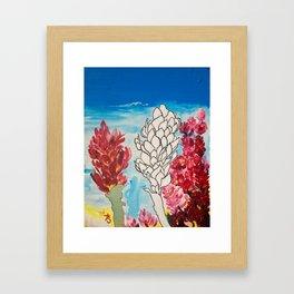Alpinia purpurata – Red Ginger Flower Framed Art Print