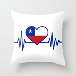 Chile pulse Throw Pillow
